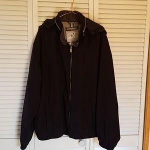 Men's XXL Weatherproof Black Hooded Jacket.